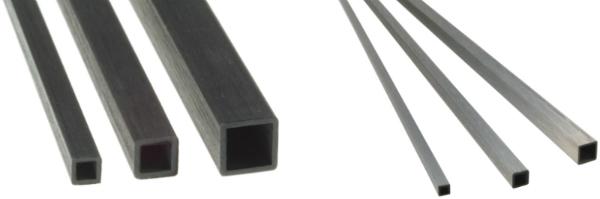 Carbonrohre Vierkant Rohr Carbon-CFK-Vierkantrohr