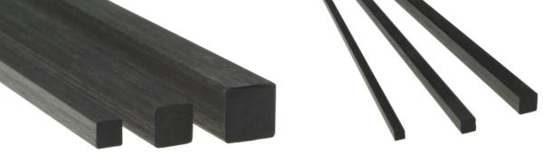 Carbonstaebe Vierkant Stab Carbon-CFK-Vierkantstab