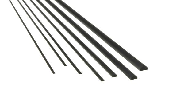 CFK Carbon-Halbrundstab