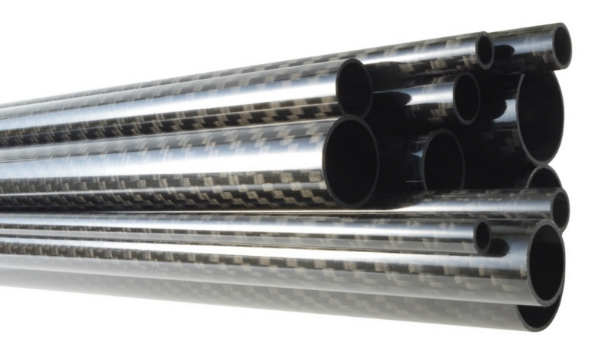 Sicht-CFK-Rohr glänzend Köper 3K