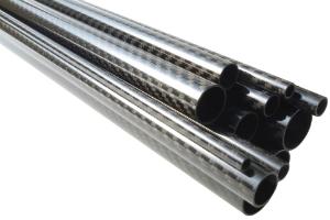 Sicht-CFK-Rohr glänzend Köper 3K Artikel-Nr.: 10108